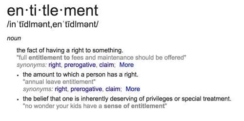 entitlement in divorce