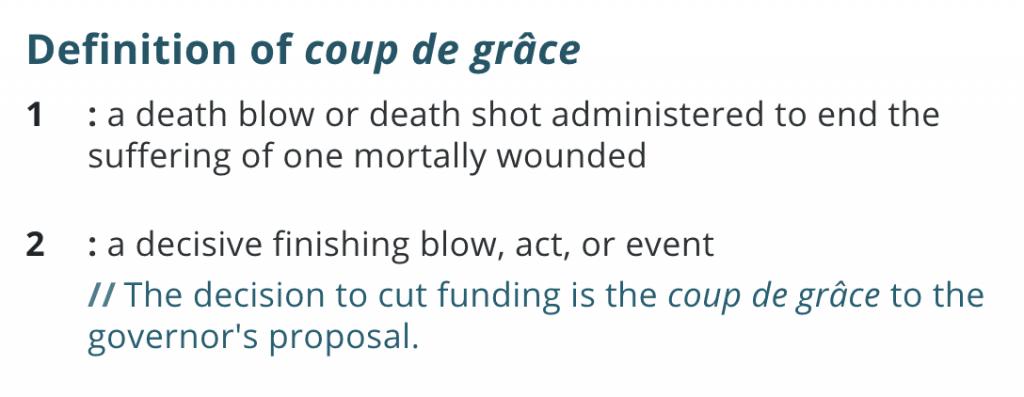 coup d grace of divorce